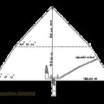 Řez Lomenou pyramidou - pohled z jihu