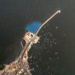 Maják na ostrově Faru - místo nálezu bloků majáku