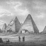 Pyramidy v Gebel Barkal - kresba z roku 1821