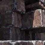 Interiér Velké pyramidy - Kamenné desky, které po pohřbu zablokovaly vchod do pohřební komory