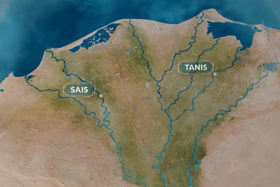 Dvě významná města v Deltě Nilu své doby - Sais a Tanis