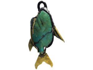 Ryba - 12. až 13.dynastie (cca. 1981–1640 př.n.l.); zlato, beryl; Severní Lišt (Iči-tauej)