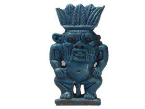 Podobizna boha Besa - 21. až 22.dynastie (cca. 1070–712 př.n.l.); fajáns