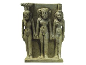 Neptysis, Hor a Isis - 26.dynastie (cca. 688–525 př.n.l.); fajáns