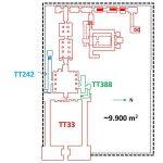 Hrobka TT33 - plán komplexu