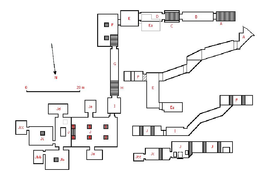 Plán hrobky KV22 Amenhotepa III.