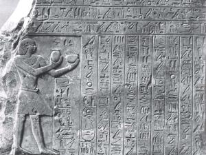 Stéla z hrobky Antefa II. v západních Thébách (Vasetu)