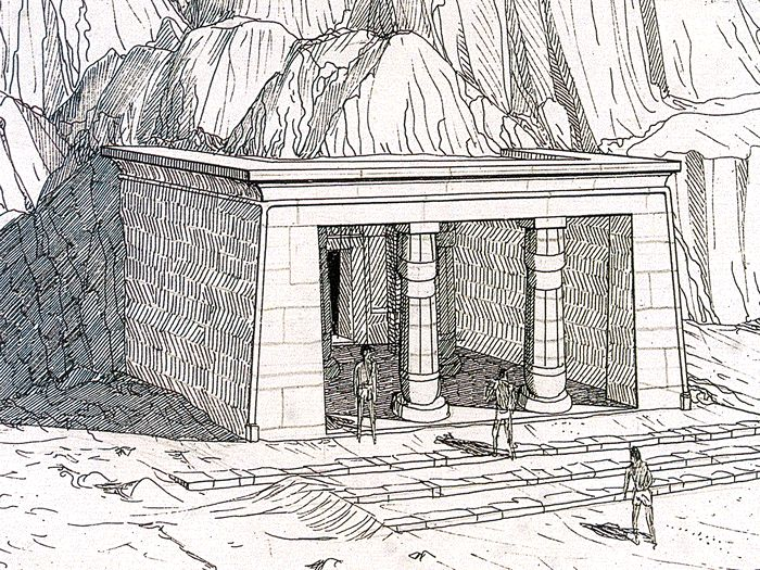Sklaní chrám Sethi I. v Kanajs