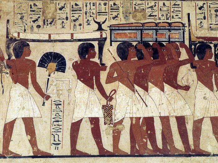 Ramoseho hrobka, detail výzdoby