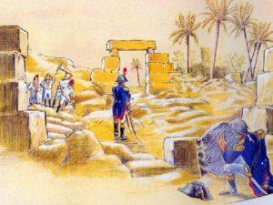 Rosettskou desku objevil Pierre-Francois Bouchard, důstojník Bonapartovy armády.