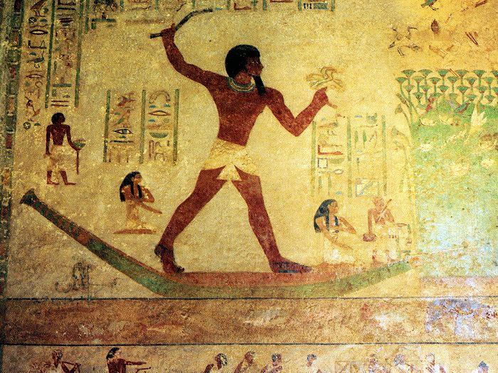 Chnumhotepova hrobka - detail výzdoby