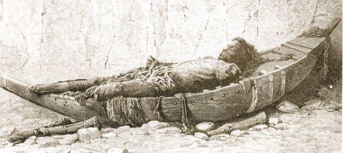 Victor Loret, mrtvola s černými vlasy