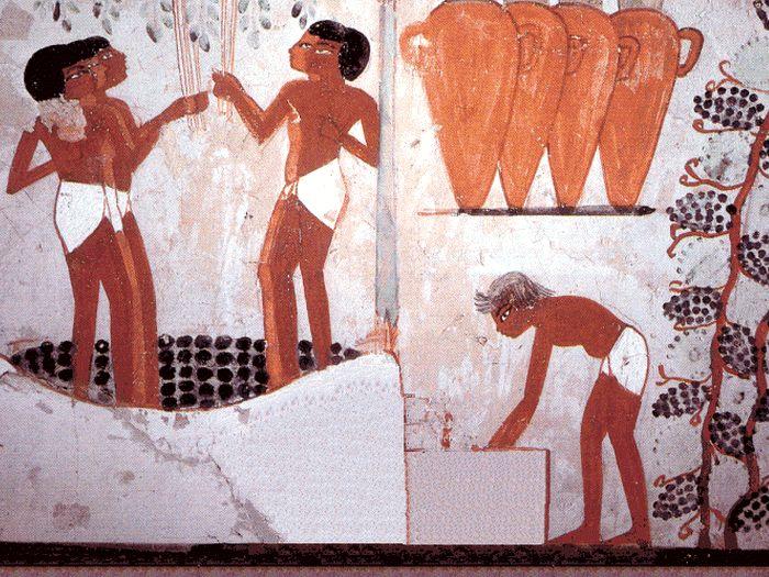 Víno - výroba vína ve starověkém Egyptě
