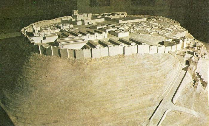 Bitva u Megidda - model pevnosti Megiddo 1457 př.n.l.