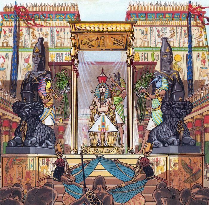 Ramesse II. je představen bohům