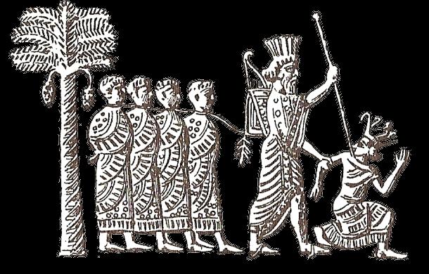 Kambýsés II. a zajatý faraon Psammetik III.