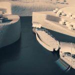 V Gebel el-Silsila byl čilý lodní provoz. Kanálem do přístavu připlouvaly prázdné lodě.