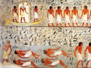 Scény z Knihy bran v pohřební komoře