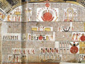 Levá stěna pohřební komory