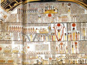Pravá stěna pohřební komory