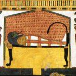 Mumie královny Nefertari se sokoly (Esetou a Nebthetou)