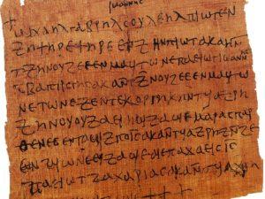 Magický papyrus z koptského období.