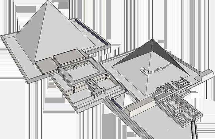 Neferirkareova a Niuserreova pyramida v Abúsíru