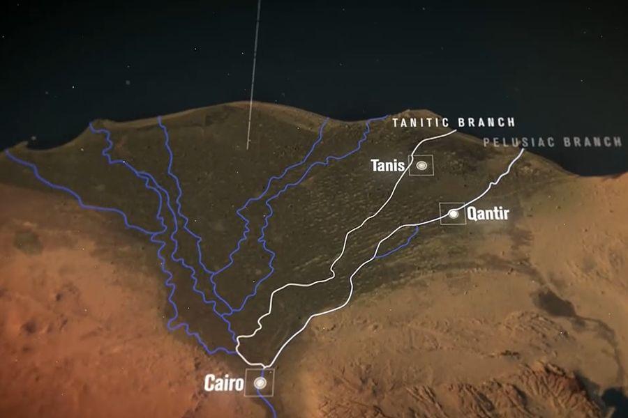 Delta Nilu - Tanis vznikl ze staveb pocházejících z Piramesse. To se nacházelo na území Qantiru.