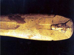 Pozlacená dřevěná rakev Antefa I.