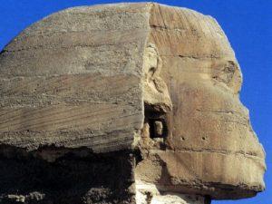Sfinga – detail obličeje