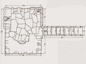 Plány komplexu Slunečního kultu od Edouarda Navilla, 1895