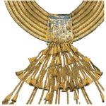 Náhrdelník Pasbachaenniuta I. (zlato, karneol, lazurit a zelený živec)