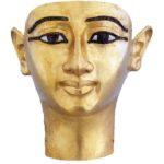 Pohřební maska Vendžebauendžeda (zlato a skelná pasta; výška 22 cm)