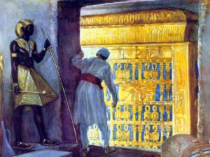 Vchod do pohřební komory poté, co byla odstraněna vrchní vrstva sádry