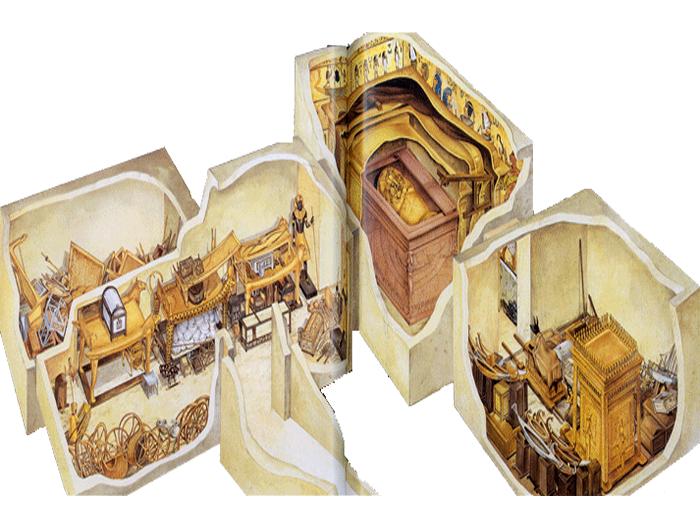 3D model hrobky Tutanchamona KV62