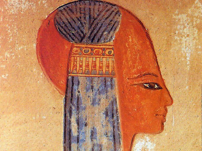 Úprava vlasů v Egyptě - lokna dětství