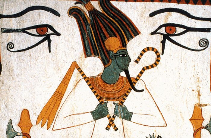 Oční lékařství - zobrazení Usira zde rámují dvě oči vedžat.
