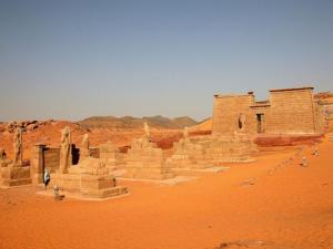 Pohled na chrám Ramesse II. v Núbii