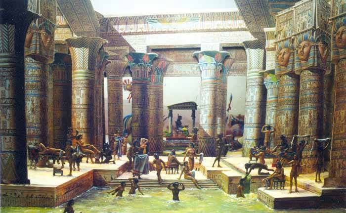 Koupele ve starověkém Egyptě