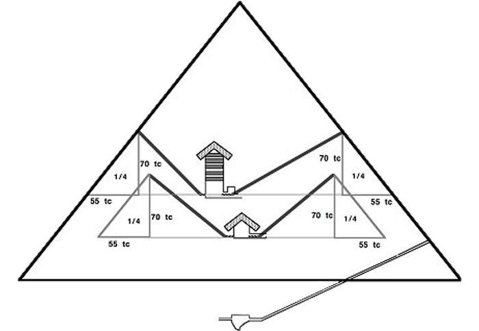 Šachty ve Velké pyramidě (Cheopsově pyramidě)